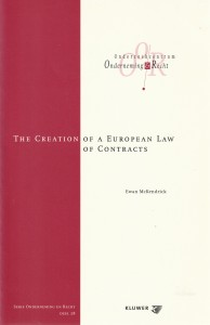 The Creation of a European Law of Contracts - Rede 2004