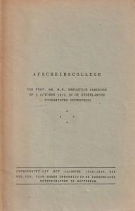 Afscheidscollege M.H. Bregstein