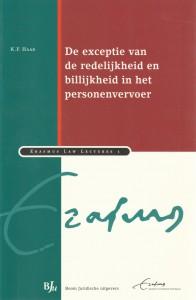De exceptie van de redelijkheid en billijkheid in het personenvervoer - Rede 2005
