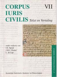 Corpus Iuris Civilis VII: Codex Justinianus 1-3