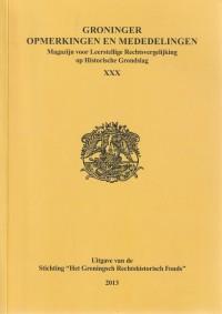 Groninger Opmerkingen en Mededelingen - XXX