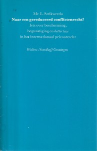 Naar een gereduceerd conflictenrecht? Rede 1986