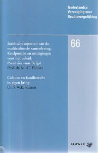 Juridische aspecten van de multiculturele samenleving.