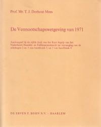 De vennootschapswetgeving van 1971