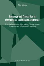 Language and Translation in International Commercial Arbitration
