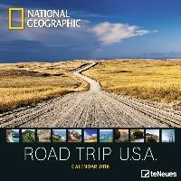 National Geographic Road Trip USA 2018 Broschürenkalender