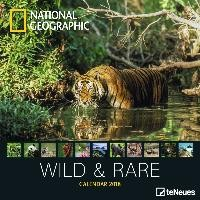 National Geographic Wild & Rare 30 x 30 Grid Calendar 2018