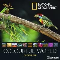National Geographic Colourful World 2018 Broschürenkalender