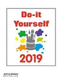 Do-it-Yourself Foto Bastelkalender 2019 groß. Bastelpapier weiß