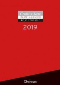 Creative Line Bastelkalender 2019 rot A4