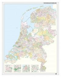 Nederland Postcode kaart