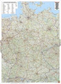 Duitsland wandkaart geplastificeerd