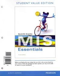 MIS Essentials, Student Value Edition