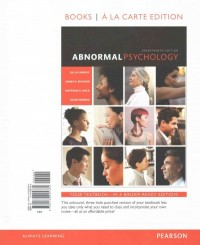 Abnormal Psychology, Book a la Carte Plus New Mylab Psychology -- Access Card Package [With Access Code]