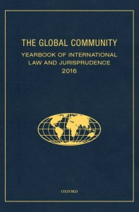 The Global Community Yearbook Of International Law and Jurisprudence 2016