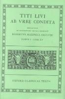 Livy Ab Urbe Condita Books I-V