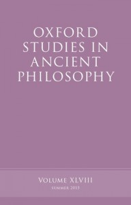 Oxford Studies in Ancient Philosophy, Volume 48