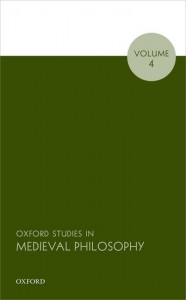 Oxford Studies in Medieval Philosophy, Volume 4