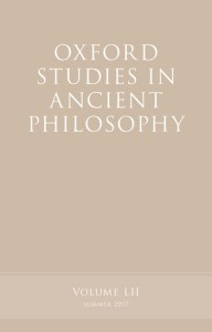 Oxford Studies in Ancient Philosophy, Volume 52