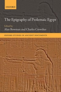 The Epigraphy of Ptolemaic Egypt