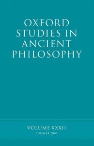 Oxford Studies in Ancient Philosophy XXXII