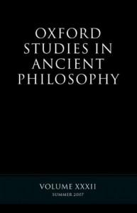 Oxford Studies in Ancient Philosophy XXXII