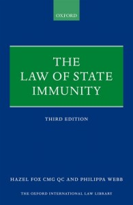 The Law of State Immunity