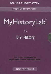 New Myhistorylab for U.S. History -- Valuepack Access Card