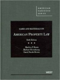 Cases and Materials on American Property Law