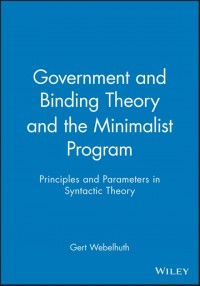 Government and Binding Theory and the Minimalist Program