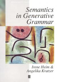 Semantics in Generative Grammar