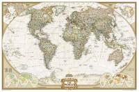 National Geographic wereldkaart - antiek - Groot