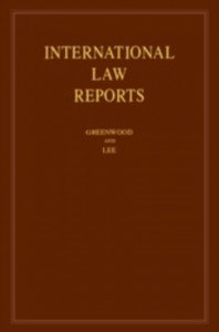 International Law Reports: Volume 183
