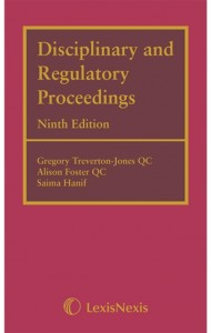 Disciplinary and Regulatory Proceedings