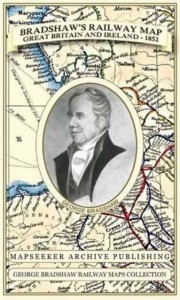 Bradshaw's Railway Map Great Britain and Ireland 1852