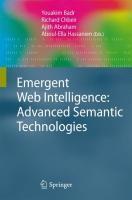 Emergent Web Intelligence: Advanced Semantic Technologies