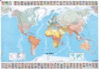 Wereldkaart met vlaggen Michelin - Poster