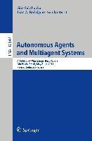 Autonomous Agents and Multiagent Systems