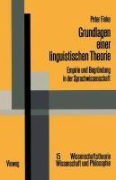 Grundlagen Einer Linguistischen Theorie