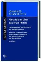 Abhandlung über das erste Prinzip / Tractatus de primo principio