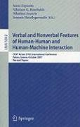 Verbal and Nonverbal Features of Human-Human and Human-Machine Interaction