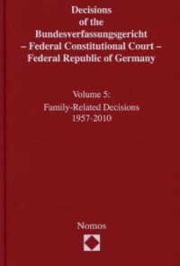 Decisions of the Bundesverfassungsgericht - Federal Constitutional Court - Federal Republic of Germany