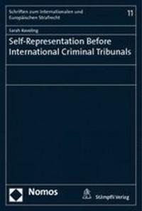 Self-Representation Before International Criminal Tribunals