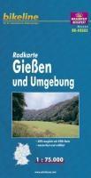 Bikeline Radkarte Deutschland Gießen und Umgebung 1 : 75 000