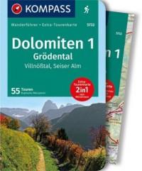 WF5732 Dolomiten 1, Grödental, Villnösstal, Seiser Alm Kompass