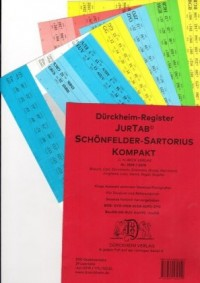 SCHÖNFELDER // SARTORIUS KOMPAKT Dürckheim-Griffregister Nr. 2559 (2019/174.EL)