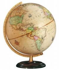 Globe Renaissance - Massief houten geprofileerde voet, donker noten antiek.