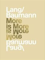 Lang/Baumann: More is More