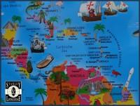 Kinderwereldkaart met vlaggetjes