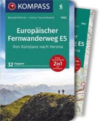 WF5962 Europäischer Fernwanderweg E5, von Konstanz nach Verona Kompass